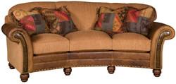 Tuscan Fabric and Leather Sofa