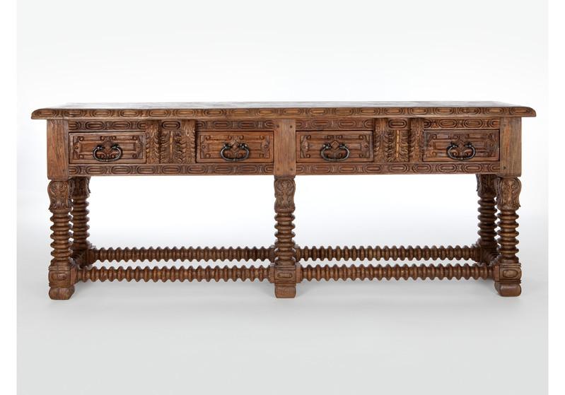 Jason Scott Spanish Carpenters Table - 6 Legs