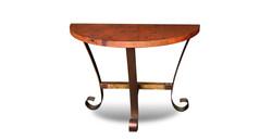 Southwest Copper Half Moon End Table