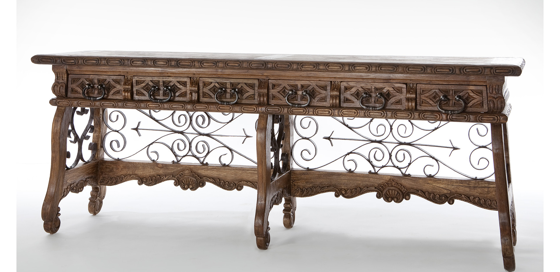 Jason Scott Spanish Prison Console Table - 6 Legs