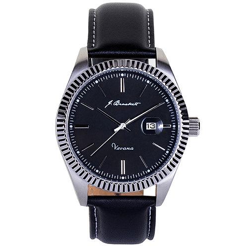 VERONA - Black - Black Leather