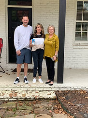 Jason and Angie Wardell with Jane McLell