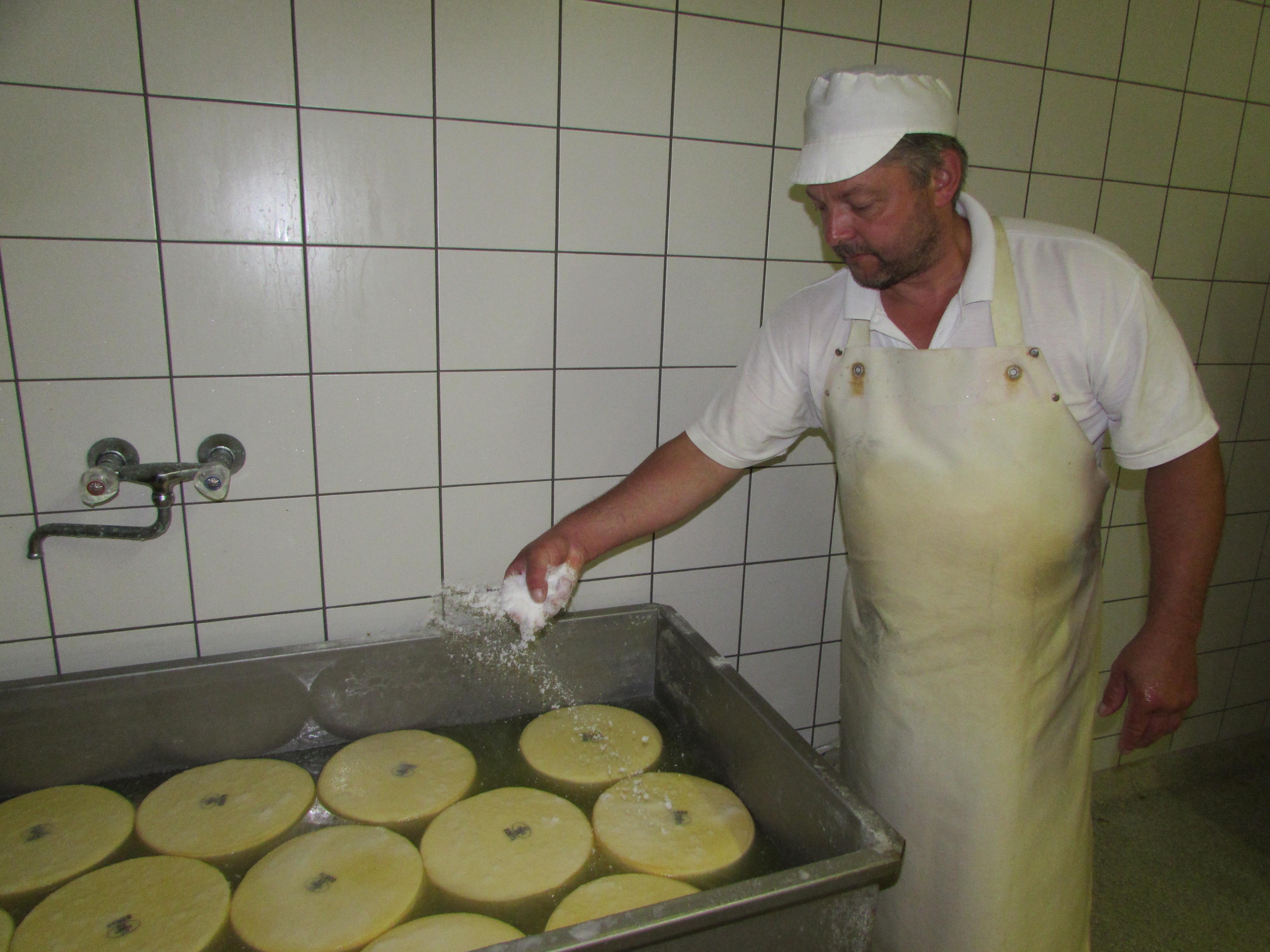 Käseproduktion - Dorfsennerei See