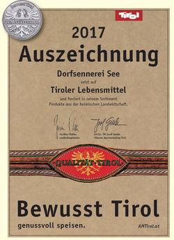 Auszeichnung bewusst Tirol