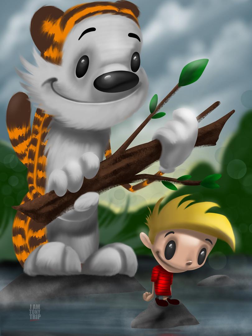 Calvin and Hobbes x Tony Trip