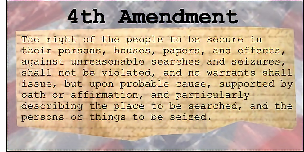 """THE PEOPLE'S LAW SCHOOL - """"The 4th Amendment:  Understanding Your Rights When Stopped by The Police"""""""
