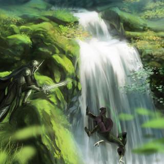 Duel sur la cascade by McFly-Illustration