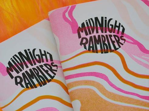 Fanzine Midnight Ramblers illustration by Chloé Cavalier (neoncece)