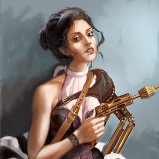 Héroine Steampunk by McFly-Illustration