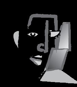 Logo dessin vectoriel visage cubisme by McFly-illustration