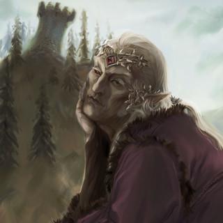 La lassitude du roi elfe by McFly-Illustration