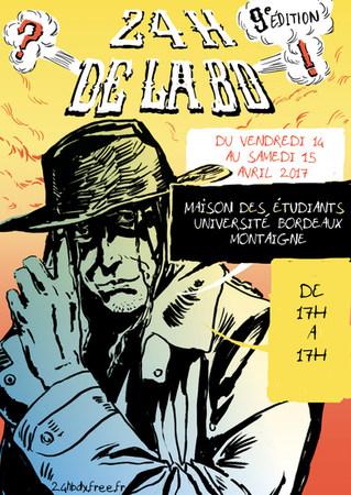 Affiche cowboy 24H de la BD Bordeaux by McFly-illustration