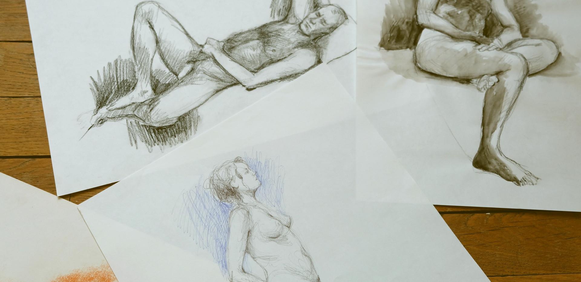 dessins modèle vivant by McFly-Illustration