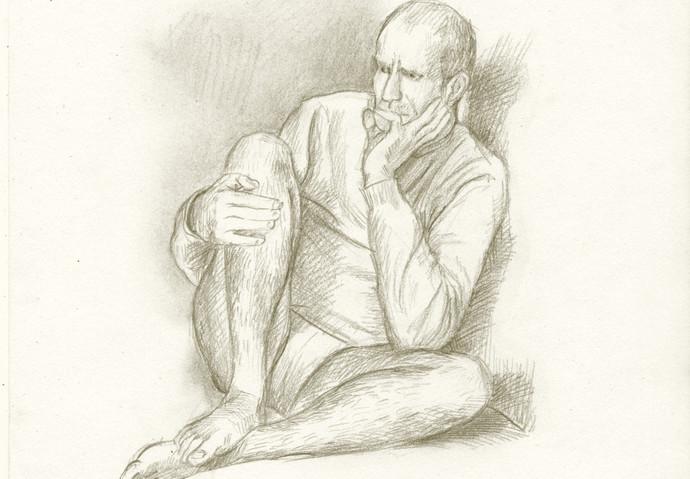 dessin modèle vivant homme by McFly-Illustration