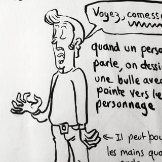 Cours de dessin Bande dessinée de McFly-illustration (Amandine Marty) animatrice en Arts Plastiques Brive-la-Gaillarde