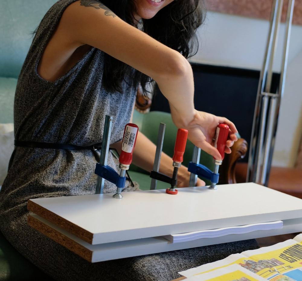 Atelier de reliure de McFly-illustration (Amandine Marty) animatrice en Arts Plastiques Brive-la-gaillarde