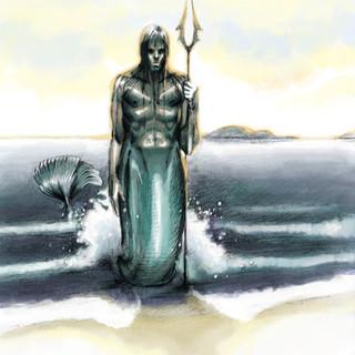 Ondin sur la plage by McFly-Illustration
