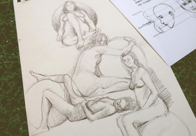 dessin modèle vivant by McFly-Illustration