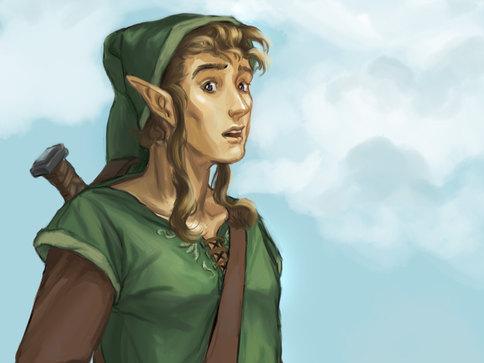 Speed Painting Fanart de Link (Zelda) by McFly-Illustration