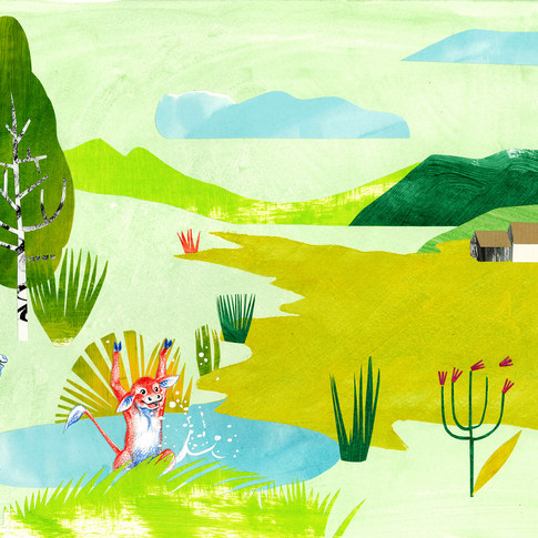 Dessin illustration : La paisible prairie by Mcfly-Illustration