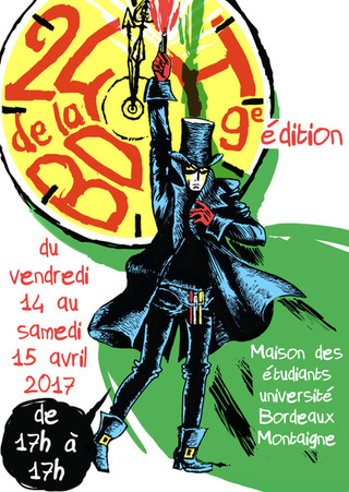 Affiche 24H de la BD Bordeaux by McFly-illustration