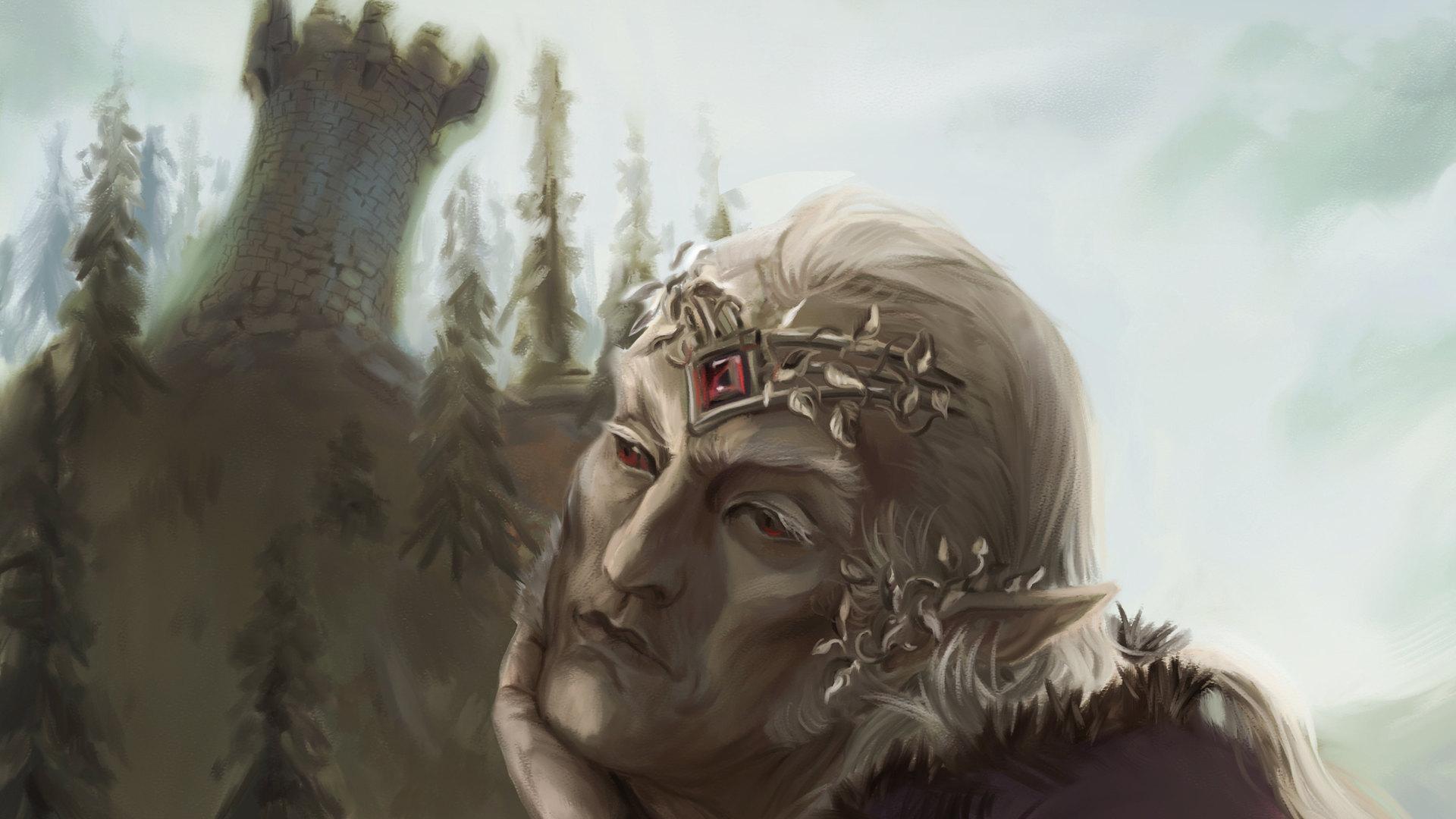 Speed Painting La Lassitude du roi elfe by McFly-Illustration