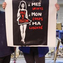 Pas touche à mes droits, à mon corps, à ma liberté by McFly-illustration