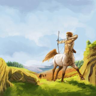 Centaure en fuite by McFly-Illustration