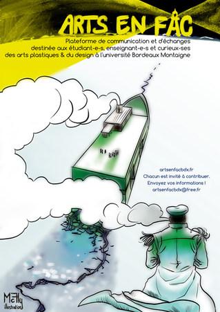 Affiche Arts en Fac by McFly-illustration