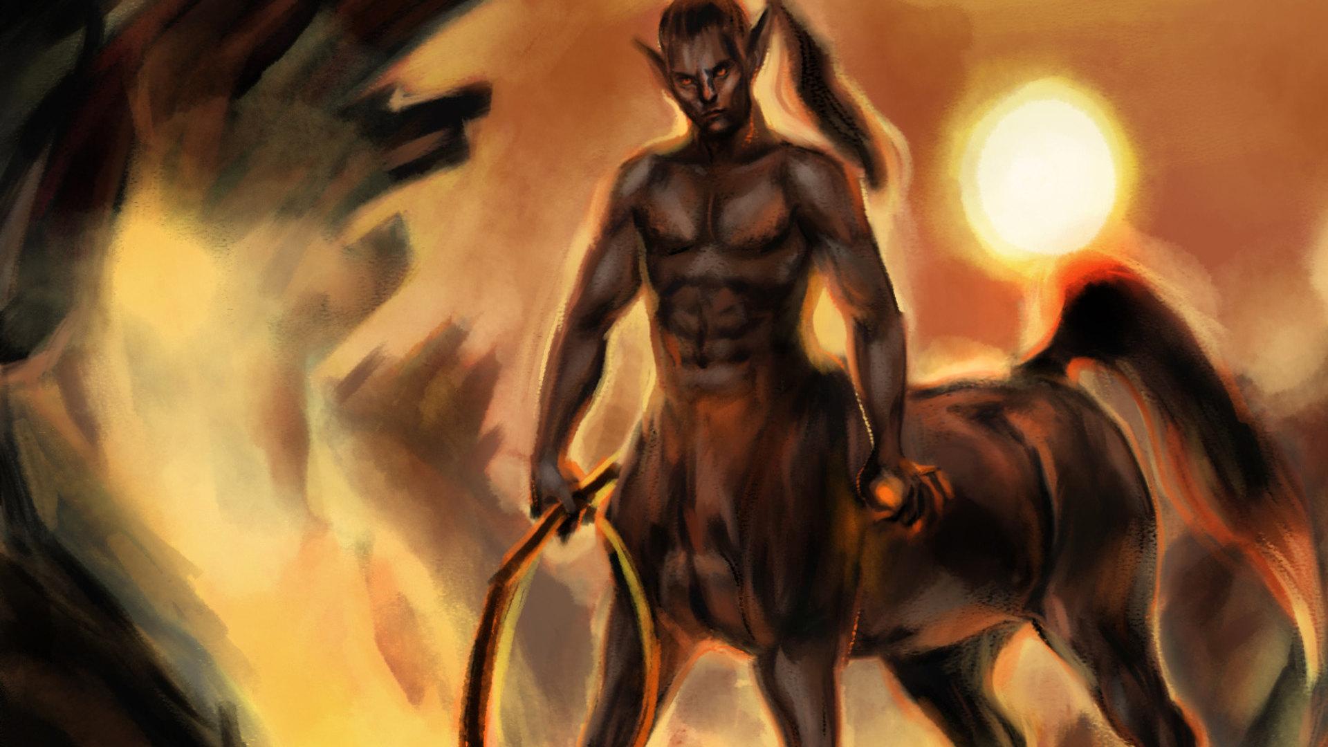 Time lapse Centaure noir by McFly-Illustration