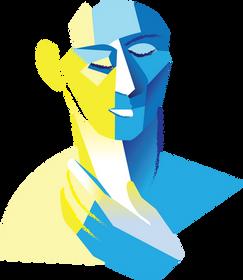 Logo dessin vectoriel visage bienveillance by McFly-illustration