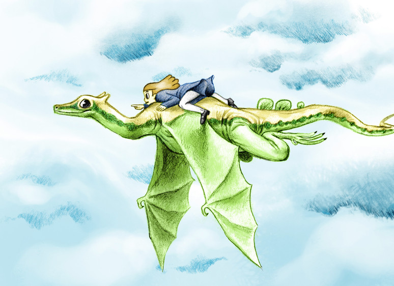 Dessin illustration dragon aventure by McFly-illustration