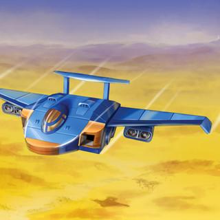 Avion futuriste by McFly-Illustration