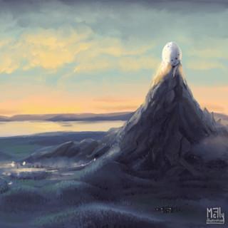 Coucher de soleil sur l'île de Cocolint by McFly-Illustration