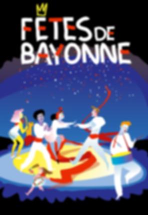 Affiche fêtes de Bayonne Ferias