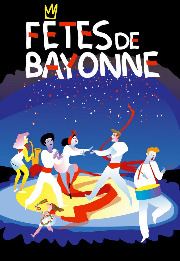 Affiche fêtes de Bayonne par McFly-illustration