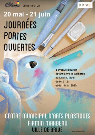 Journées portes ouvertes Centre Municipal d'Arts Plastiques by McFly-Illustration