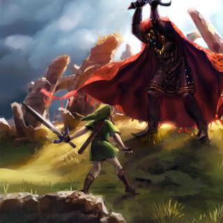 Link versus Ganondorf by McFly-Illustration