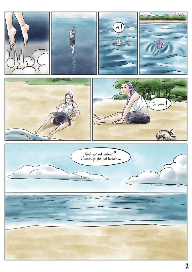Page 2 Bande dessinée voyage par McFly-Illustration