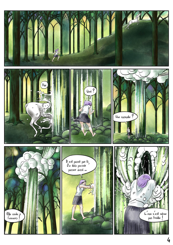 Page 4 Bande dessinée voyage par McFly-Illustration