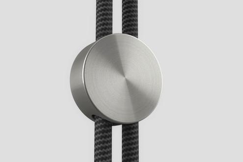radial brushed metal