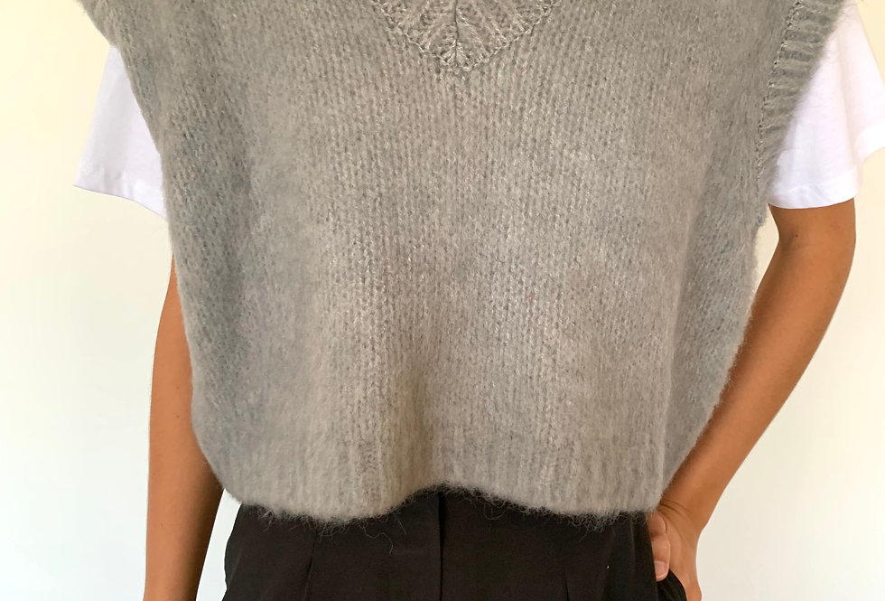 Cropped Sweater Vest (3colors)