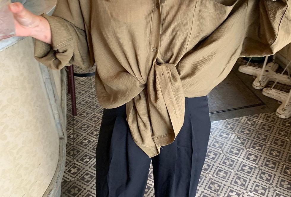 Khaki Oversized Shirt