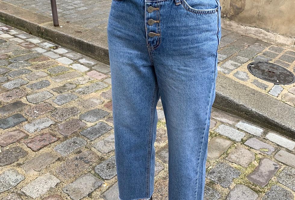 Wrap-waist Jeans