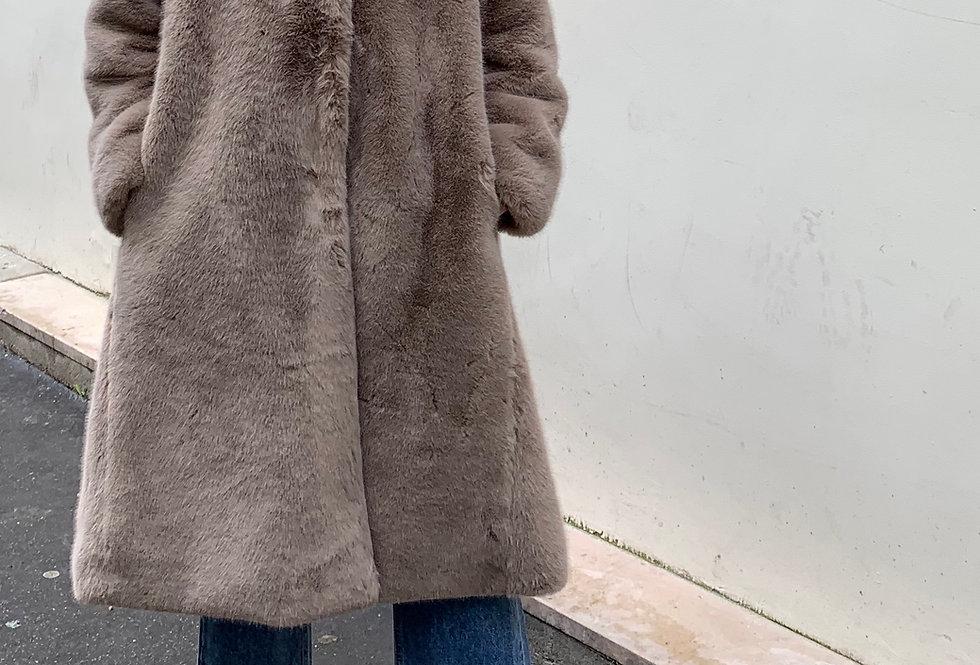 A-line Fur Coat (2colors)