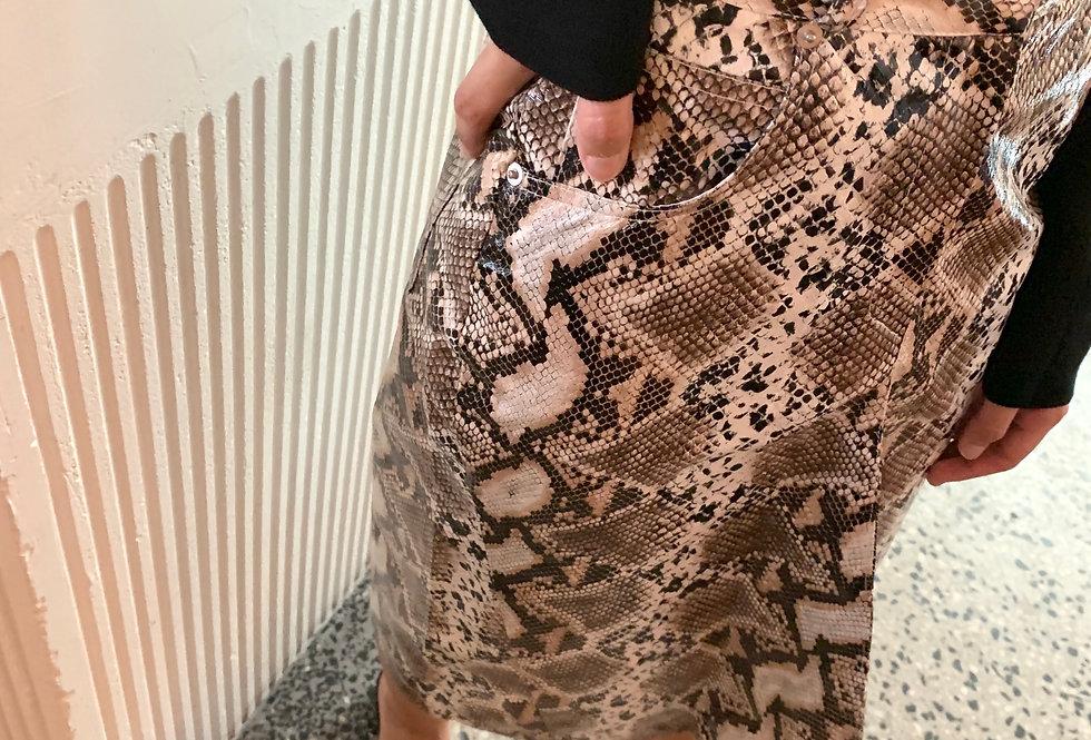 Faux Python-print Skirt