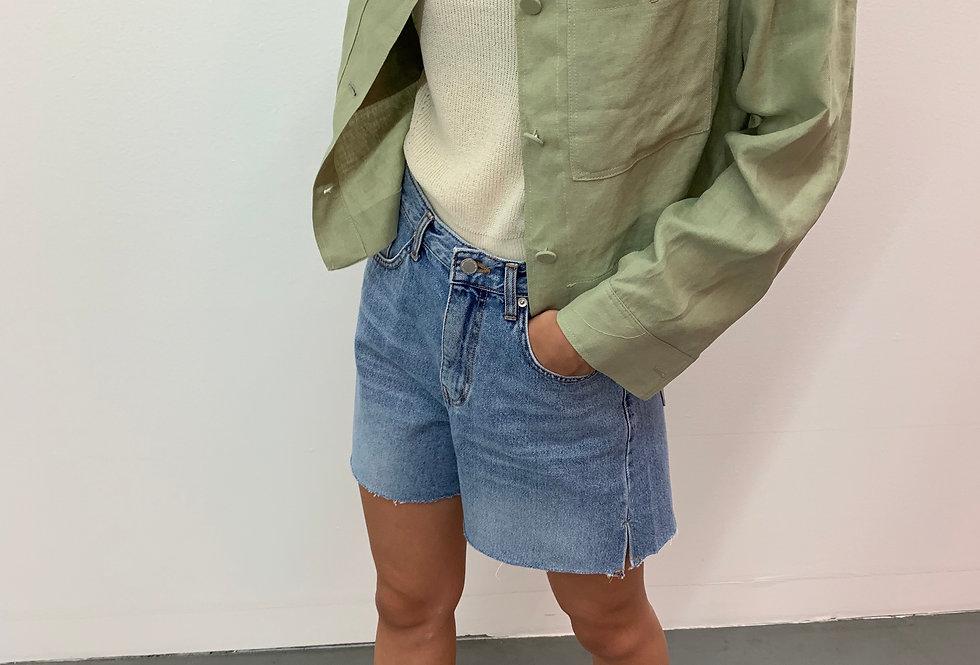 Cropped Linen Jacket (2colors)