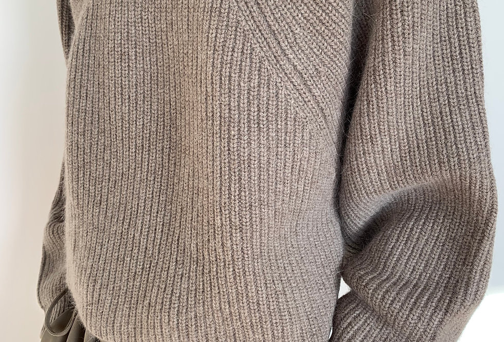 Cropped angora wool jumper (2colors)