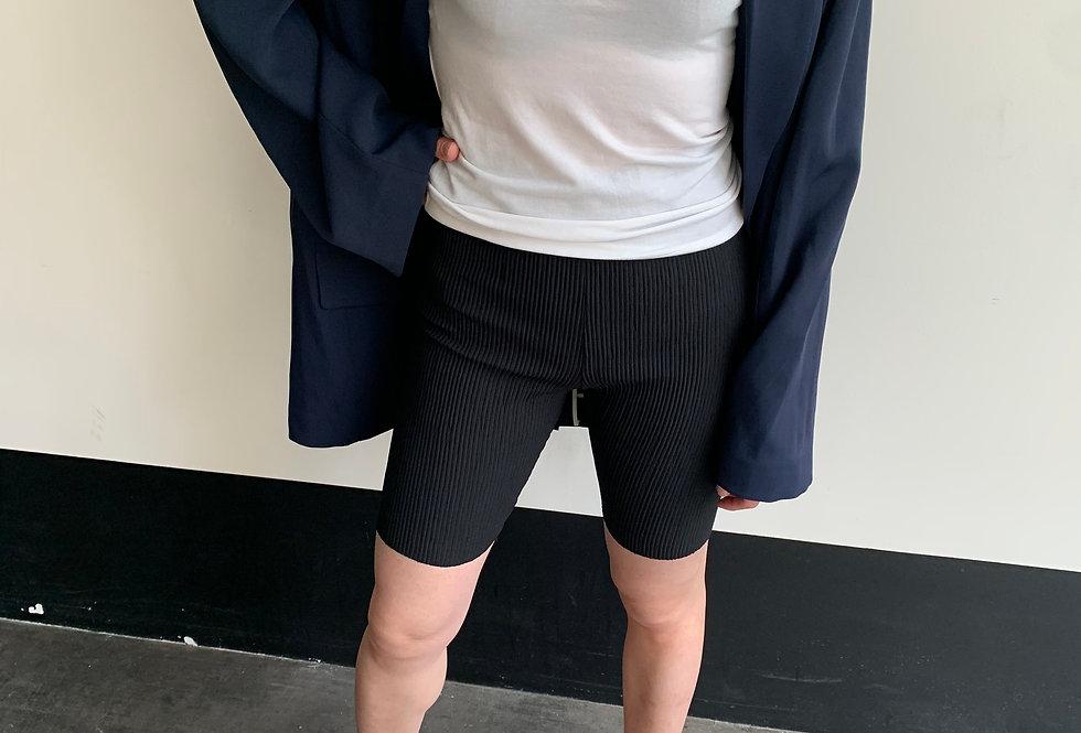 Pleated Bike Shorts