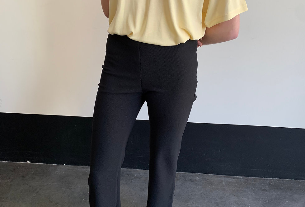 Flared Ribbed Trousers (2colors)